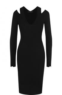 Вязаное платье-футляр с V-образным вырезом The Row