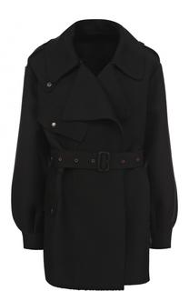 Пальто из смеси шерсти и шелка с поясом The Row
