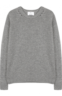 Кашемировый пуловер прямого кроя с круглым вырезом Allude