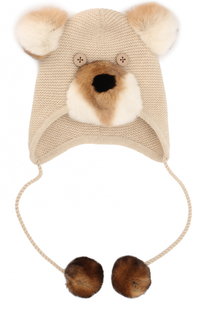 Кашемировая шапка с меховым декором Loro Piana