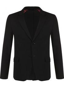 Однобортный пиджак из вискозы HUGO