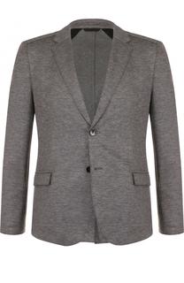 Однобортный шерстяной пиджак HUGO
