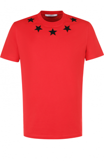 Хлопковая футболка с нашивками Givenchy