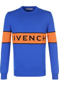 Шерстяной джемпер с логотипом бренда Givenchy