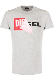 Хлопковая футболка с отделкой Diesel