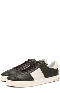 Кожаные кеды Flycrew на шнуровке Valentino