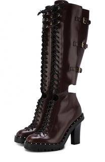 Кожаные сапоги Soil Rockstud с ремешками на устойчивом каблуке Valentino