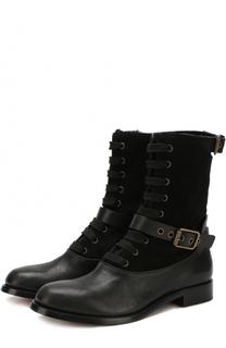 Комбинированные ботинки с ремешками Chloé