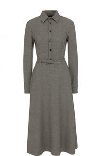 Приталенное шерстяное платье-рубашка Ralph Lauren