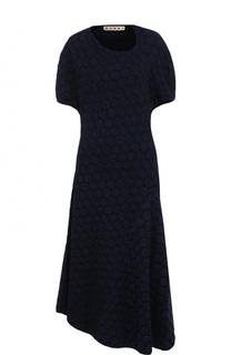 Приталенное платье-миди асимметричного кроя Marni