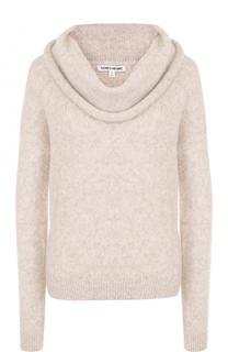 Шерстяной однотонный пуловер Elizabeth and James