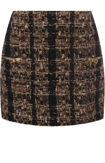 Буклированная мини-юбка с карманами Balmain