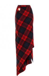 Шерстяная юбка-миди асимметричного кроя Dsquared2