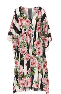 Шелковое приталенное мини-платье Dolce & Gabbana