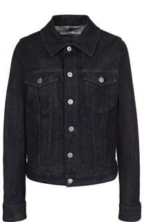 Джинсовая куртка прямого кроя с логотипом бренда на спинке Givenchy
