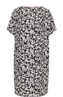 Шелковое мини-платье прямого кроя с принтом Michael Kors