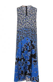 Шелковое платье-миди с цветочным принтом Michael Kors