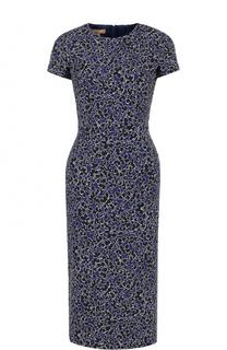 Приталенное платье-миди с коротким рукавом Michael Kors
