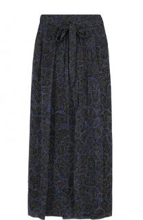 Шелковая юбка-макси с принтом и поясом Isabel Marant Etoile