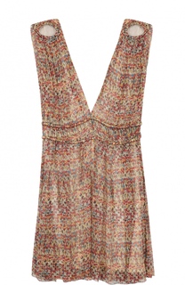 Приталенное шелковое мини-платье с глубоким V-образным вырезом Isabel Marant Etoile