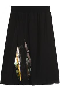 Однотонная юбка-миди с вышивкой пайетками Dorothee Schumacher