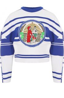 Укороченный пуловер с круглым вырезом Tata Naka