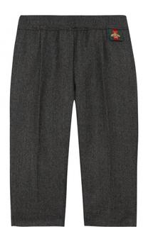 Шерстяные брюки с эластичным поясом Gucci