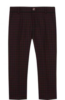 Шерстяные брюки в клетку Gucci