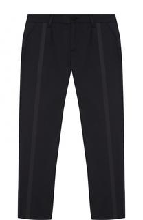 Хлопковые брюки с отделкой Armani Junior