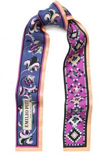 Шелковый шарф-бандо с принтом Emilio Pucci
