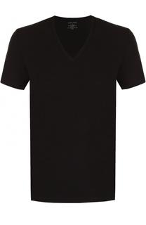 Хлопковая футболка с V-образным вырезом Calvin Klein Underwear