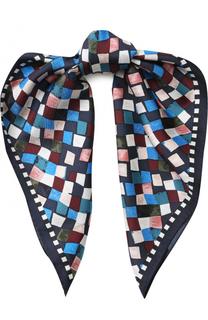 Шелковый платок с принтом Tory Burch