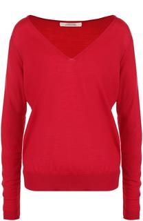 Шерстяной пуловер свободного кроя с V-образным вырезом Dorothee Schumacher