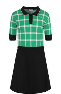 Приталенное мини-платье с коротким рукавом REDVALENTINO