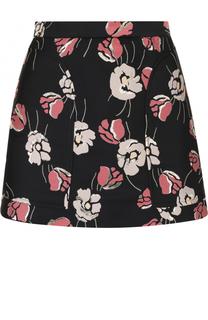 Мини-шорты с цветочным принтом REDVALENTINO