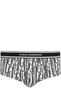Хлопковые хипсы с принтом Dolce & Gabbana