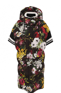 Пуховик с коротким рукавом и капюшоном Dolce & Gabbana
