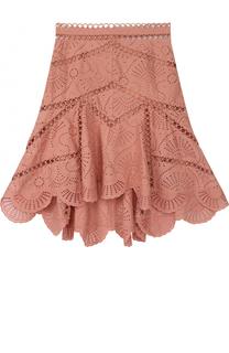Кружевная юбка-миди асимметричного кроя Zimmermann