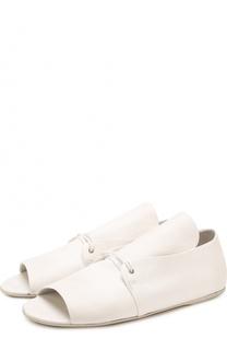 Кожаные ботинки с открытым мысом Marsell