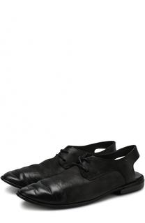 Кожаные ботинки с открытым задником Marsell
