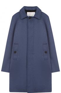Кашемировое пальто прямого кроя Burberry