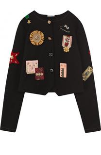 Укороченный жакет с аппликациями Dolce & Gabbana
