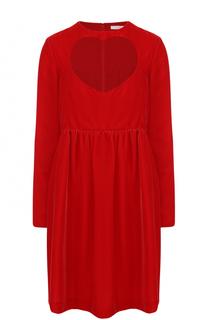 Мини-платье с завышенной талией и длинным рукавом Chloé
