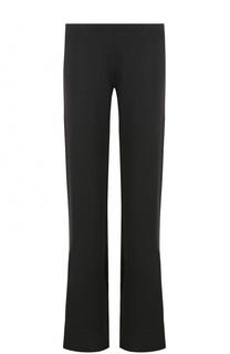 Однотонные расклешенные брюки с эластичным поясом Pietro Brunelli
