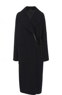 Однотонное кашемировое пальто свободного кроя Maison Margiela