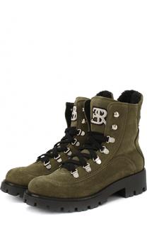 Замшевые ботинки Ermanno Scervino