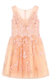 Приталенное мини-платье с цветочной отделкой Basix Black Label