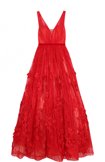 Приталенное платье-макси с пышной юбкой и открытой спиной Basix Black Label