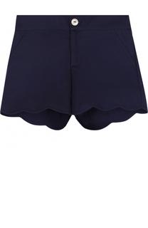 Хлопковые шорты с фигурной отделкой Oscar de la Renta