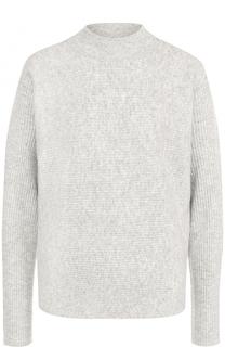 Шерстяной свитер прямого кроя BOSS